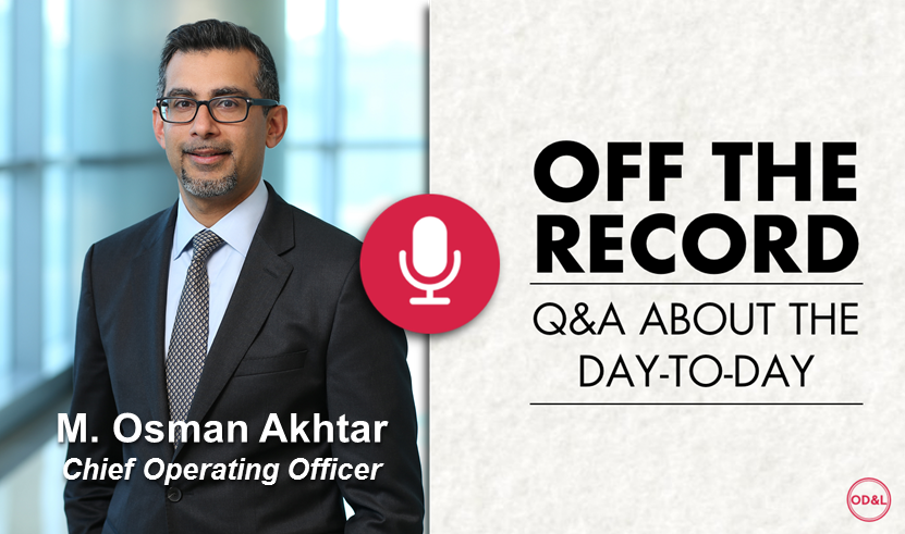 Off the Record with M. Osman Akhtar, COO